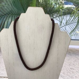 Handmade in Nepal brown bead necklace